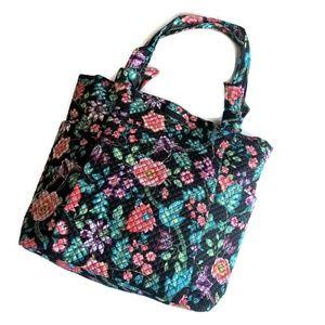 Vera Bradley Hadley Tote Bag ~ Vines Floral NWT